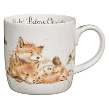 Buy Royal Worcester Wrendale Christmas Foxes Mug Online at johnlewis.com