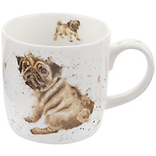 Buy Royal Worcester Wrendale Pug Mug Online at johnlewis.com
