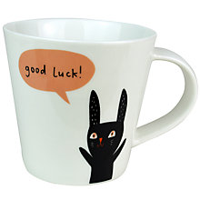 Buy Becky Baur 'Good Luck' Mug Online at johnlewis.com