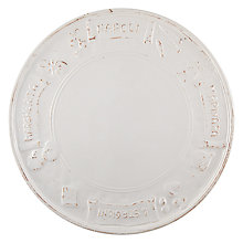 Buy Virginia Casa Toscana Pizza Plate, White Online at johnlewis.com