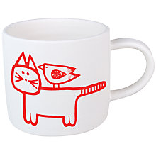 Buy Jane Foster Mini Cat & Bird Mug Online at johnlewis.com