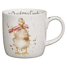 Buy Royal Worcester Wrendale Christmas Duck Mug Online at johnlewis.com