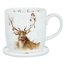 Buy Royal Worcester Wrendale Deer Mug and Coaster Set Online at johnlewis.com