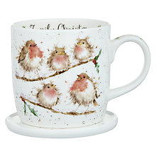Buy Royal Worcester Wrendale Robins Mug and Coaster Set Online at johnlewis.com