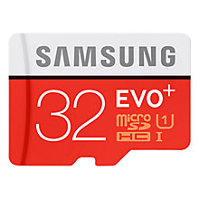 Buy Samsung microSD Evo+, 32GB, 80MB/s, with SD Adapter Online at johnlewis.com