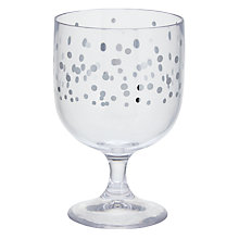 Buy John Lewis Silver Spot Acrylic Stacking Wine Glass Online at johnlewis.com
