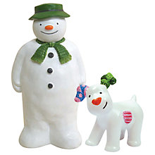 Buy Creative Party Snowman and Snowdog Christmas Cake Topper Online at johnlewis.com