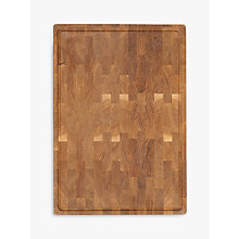 Buy John Lewis Croft Collection Oak End Grain Chopping Board Online at johnlewis.com