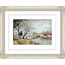 Buy Jeremy King - Albert Bridge Limited Edition Framed Lithograph, 73 x 93cm Online at johnlewis.com