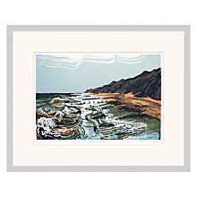 Buy Andy Lovell - Washing The Groynes Original Limited Edition Screenprint, Framed, 63 x 79cm Online at johnlewis.com