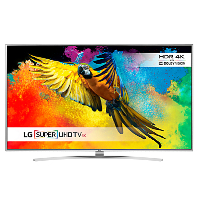 "LG 55UH770 LED HDR Super 4K Ultra HD Smart TV, 55"" With Freeview HD/freesat HD, Harman Kardon Sound & Bright Metal Design"