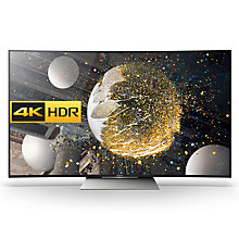 "Buy Sony Bravia 55SD8505 Curved LED HDR 4K Ultra HD Android TV, 55"" With Youview/Freeview HD, Playstation Now & Silver Slate Design Online at johnlewis.com"