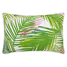 Buy John Lewis Palm Leaf Outdoor Cushion, Light Green Online at johnlewis.com
