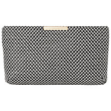 Buy L.K. Bennett Flora Clutch Bag, Black/White Online at johnlewis.com