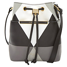 Buy Ted Baker Lilean Harlequin Leather Bucket Bag Online at johnlewis.com