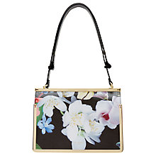 Buy Ted Baker 	Moana Forget Me Not Metal Trim Leather Tote Bag, Black Online at johnlewis.com