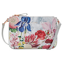 Buy Ted Baker Tressa Crosshatch Leather Across Body Bag, Ivory Online at johnlewis.com