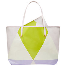 Buy Ted Baker Queena Harlequin Print Canvas Shopper Bag Online at johnlewis.com