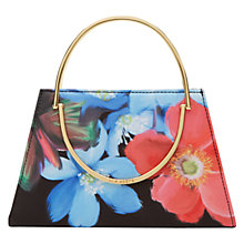 Buy Ted Baker Fynn Forget Me Not Clutch Bag, Black Online at johnlewis.com