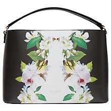 Buy Ted Baker Aniyaa Forget Me Not Leather Tote Bag, Black Online at johnlewis.com