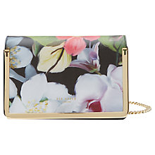 Buy Ted Baker Mila Forget Me Not Leather Across Body Bag, Black Online at johnlewis.com
