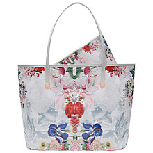Buy Ted Baker Izabela Canvas Shopper Bag, Ivory Online at johnlewis.com