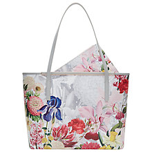 Buy Ted Baker Tristin Crosshatch Leather Shopper Bag, Ivory Online at johnlewis.com