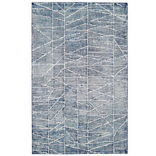 Buy west elm Erased Lines Rug, Blue Online at johnlewis.com