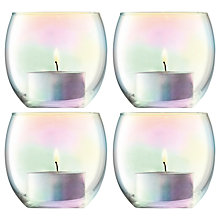 Buy LSA International Pearl Tealight Holder & Candles, Set of 4 Online at johnlewis.com