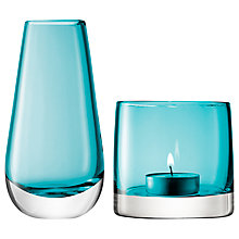 Buy LSA International Bud Vase and Tealight Holder, Peacock Online at johnlewis.com