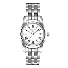 Buy Tissot T0332101101300 Women's Classic Dream Date Bracelet Strap Watch, Silver/White Online at johnlewis.com