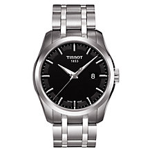 Buy Tissot T0354101105100 Men's Couturier Date Bracelet Strap Watch, Silver/Black Online at johnlewis.com