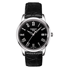 Buy Tissot T0334101605301 Men's Classic Dream Date Leather Strap Watch, Black Online at johnlewis.com