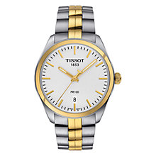 Buy Tissot T1014102203100 Men's PR 100 Date Two Tone Bracelet Strap Watch, Silver/Gold Online at johnlewis.com