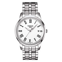 Buy Tissot T0334101101301 Men's Classic Dream Date Bracelet Strap Watch, Silver/White Online at johnlewis.com