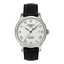 Buy Tissot T41142333 Men's Le Locle Date Leather Strap Watch, Black/Silver Online at johnlewis.com
