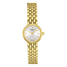 Buy Tissot T0580093303100 Women's Lovely Bracelet Strap Watch, Gold/White Online at johnlewis.com