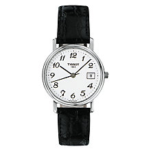 Buy Tissot T52112112 Women's Desire Date Leather Strap Watch, Black/White Online at johnlewis.com