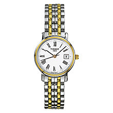 Buy Tissot T52228113 Women's Desire Date Two Tone Bracelet Strap Watch, Silver/Gold Online at johnlewis.com