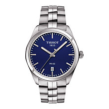 Buy Tissot T1014101104100 Men's PR 100 Date Bracelet Strap Watch, Silver/Navy Online at johnlewis.com