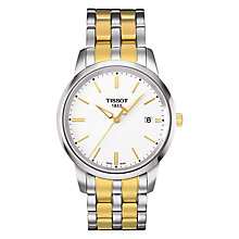 Buy Tissot T0334102201101 Men's Classic Dream Date Two Tone Bracelet Strap Watch, Silver/Gold Online at johnlewis.com