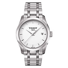 Buy Tissot T0352101101100 Women's Couturier Date Bracelet Strap Watch, Silver/White Online at johnlewis.com