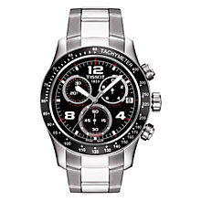 Buy Tissot T0394171105702 Men's V8 Chronograph Date Bracelet Strap Watch, Silver/Black Online at johnlewis.com