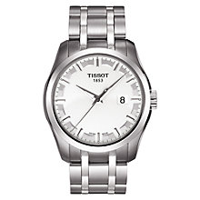 Buy Tissot T0354101105100 Men's Couturier Date Bracelet Strap Watch, Silver/White Online at johnlewis.com