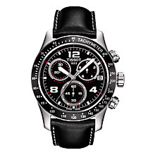 Buy Tissot T0394171605702 Men's V8 Chronograph Date Leather Strap Watch, Black Online at johnlewis.com