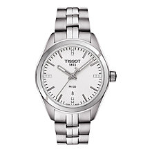 Buy Tissot T1012101103600 Women's PR 100 Date Diamond Bracelet Strap Watch, Silver Online at johnlewis.com