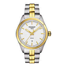 Buy Tissot T1012102203100 Women's PR 100 Date Two Tone Bracelet Strap Watch, Silver/Gold Online at johnlewis.com