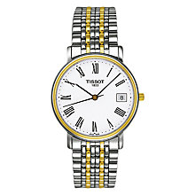 Buy Tissot T52248113 Men's Desire Date Two Tone Bracelet Strap Watch, Silver/Gold Online at johnlewis.com