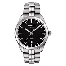 Buy Tissot T1014101105100 Men's PR 100 Date Bracelet Strap Watch, Silver/Black Online at johnlewis.com
