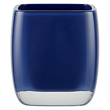 Buy House by John Lewis Cubi Bathroom Tumbler, Navy Online at johnlewis.com